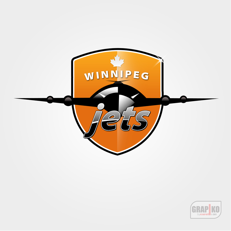 Logo Design by carell - Entry No. 120 in the Logo Design Contest Winnipeg Jets Logo Design Contest.