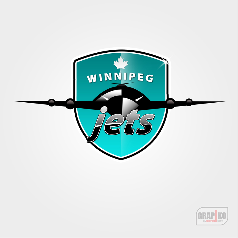 Logo Design by carell - Entry No. 121 in the Logo Design Contest Winnipeg Jets Logo Design Contest.