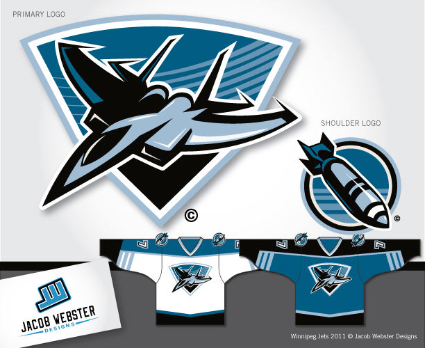 Logo Design by Jacob Webster - Entry No. 176 in the Logo Design Contest Winnipeg Jets Logo Design Contest.