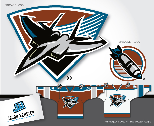 Logo Design by Jacob Webster - Entry No. 177 in the Logo Design Contest Winnipeg Jets Logo Design Contest.
