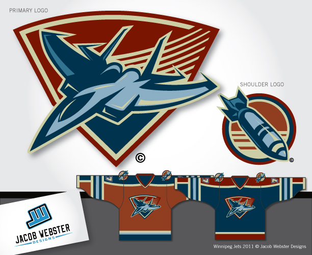 Logo Design by Jacob Webster - Entry No. 179 in the Logo Design Contest Winnipeg Jets Logo Design Contest.