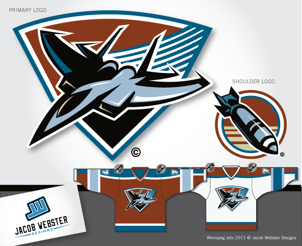 Logo Design by Jacob Webster - Entry No. 180 in the Logo Design Contest Winnipeg Jets Logo Design Contest.