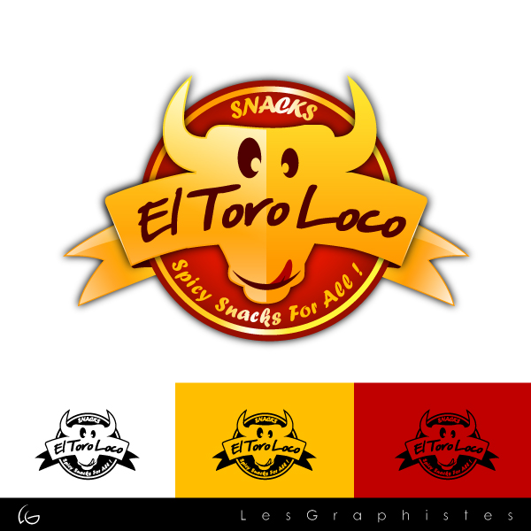 Logo Design by Les-Graphistes - Entry No. 36 in the Logo Design Contest EL TORO LOCO.