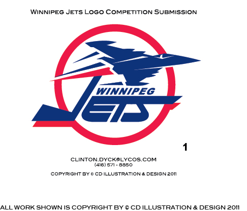 Logo Design by Private User - Entry No. 198 in the Logo Design Contest Winnipeg Jets Logo Design Contest.