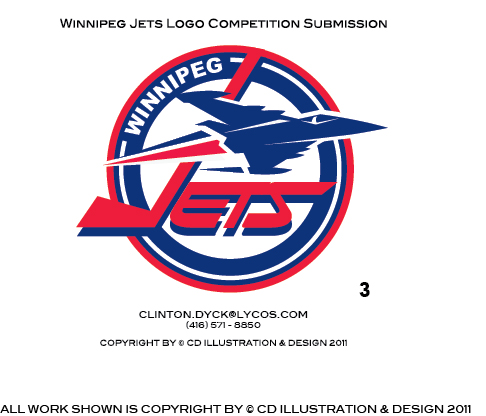 Logo Design by Private User - Entry No. 200 in the Logo Design Contest Winnipeg Jets Logo Design Contest.