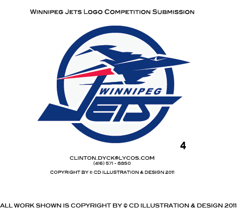 Logo Design by Private User - Entry No. 201 in the Logo Design Contest Winnipeg Jets Logo Design Contest.