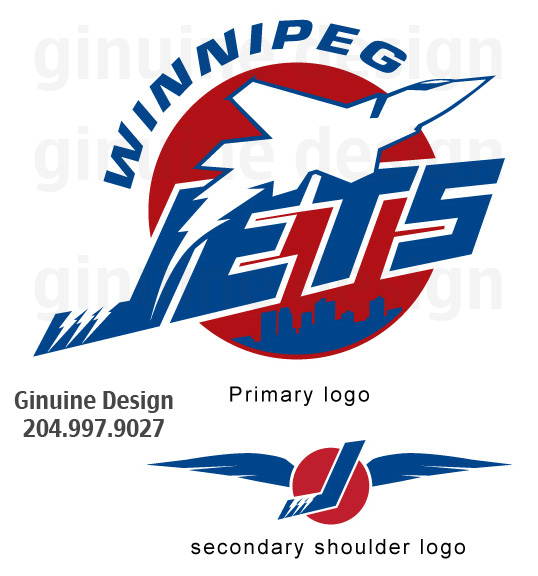 Logo Design by Jetsfan204 - Entry No. 209 in the Logo Design Contest Winnipeg Jets Logo Design Contest.