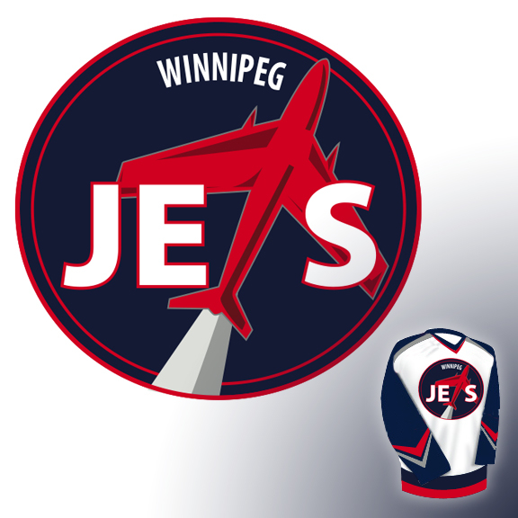 Logo Design by derrickramos - Entry No. 233 in the Logo Design Contest Winnipeg Jets Logo Design Contest.