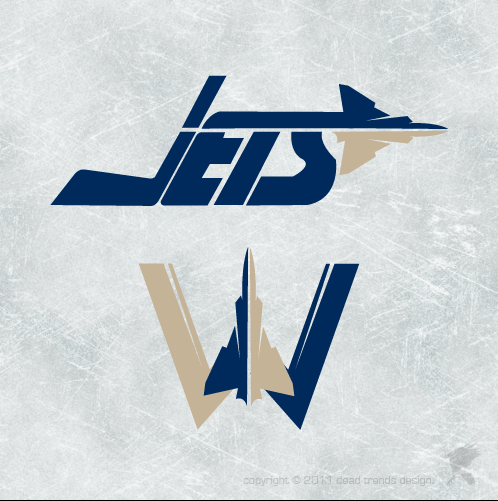 Logo Design by deadtrends - Entry No. 262 in the Logo Design Contest Winnipeg Jets Logo Design Contest.