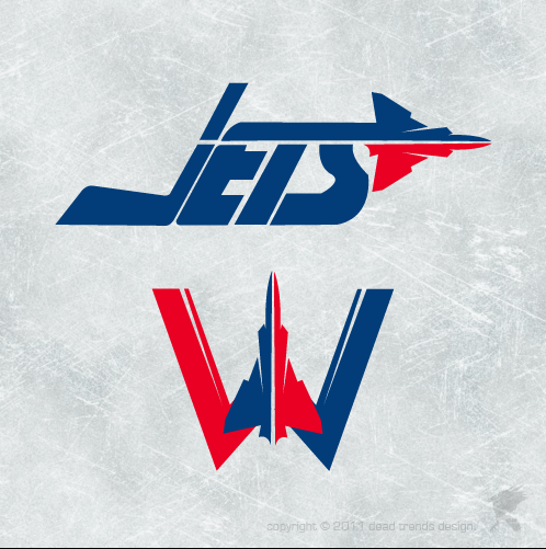 Logo Design by deadtrends - Entry No. 263 in the Logo Design Contest Winnipeg Jets Logo Design Contest.