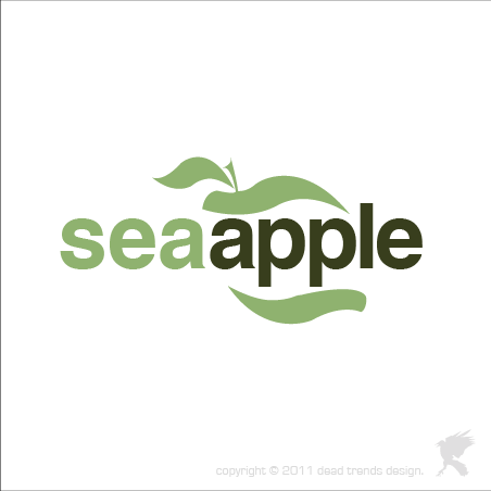 Logo Design by deadtrends - Entry No. 6 in the Logo Design Contest Sea Apple logo.