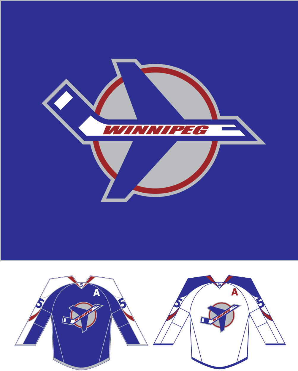 Logo Design by Columbia - Entry No. 267 in the Logo Design Contest Winnipeg Jets Logo Design Contest.