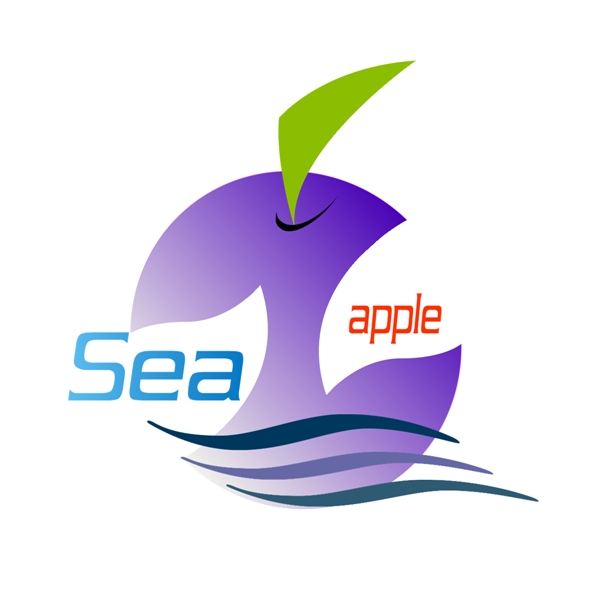 Logo Design by Chris Frederickson - Entry No. 22 in the Logo Design Contest Sea Apple logo.