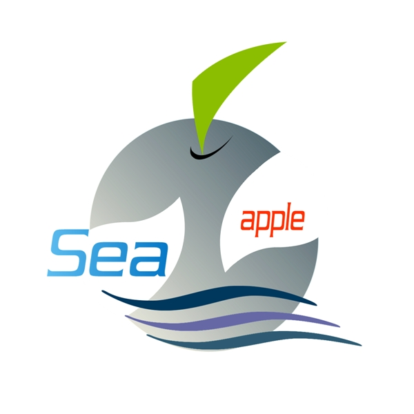 Logo Design by Chris Frederickson - Entry No. 23 in the Logo Design Contest Sea Apple logo.