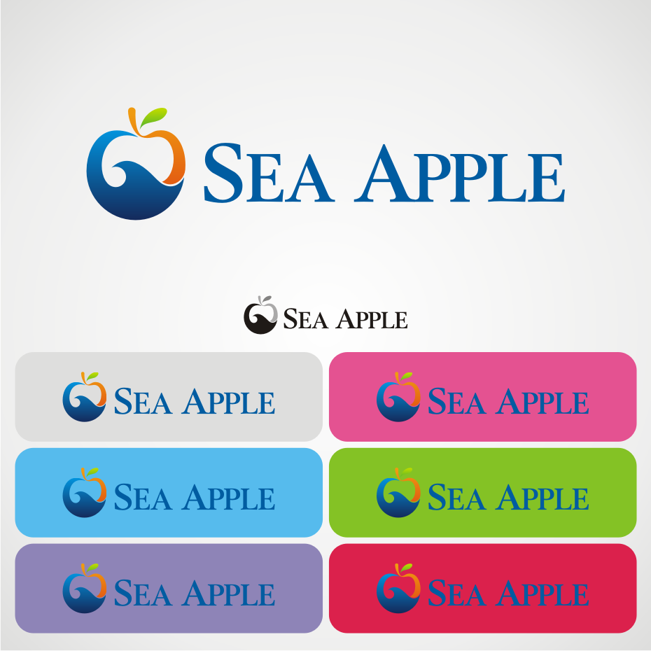 Logo Design by awis - Entry No. 43 in the Logo Design Contest Sea Apple logo.