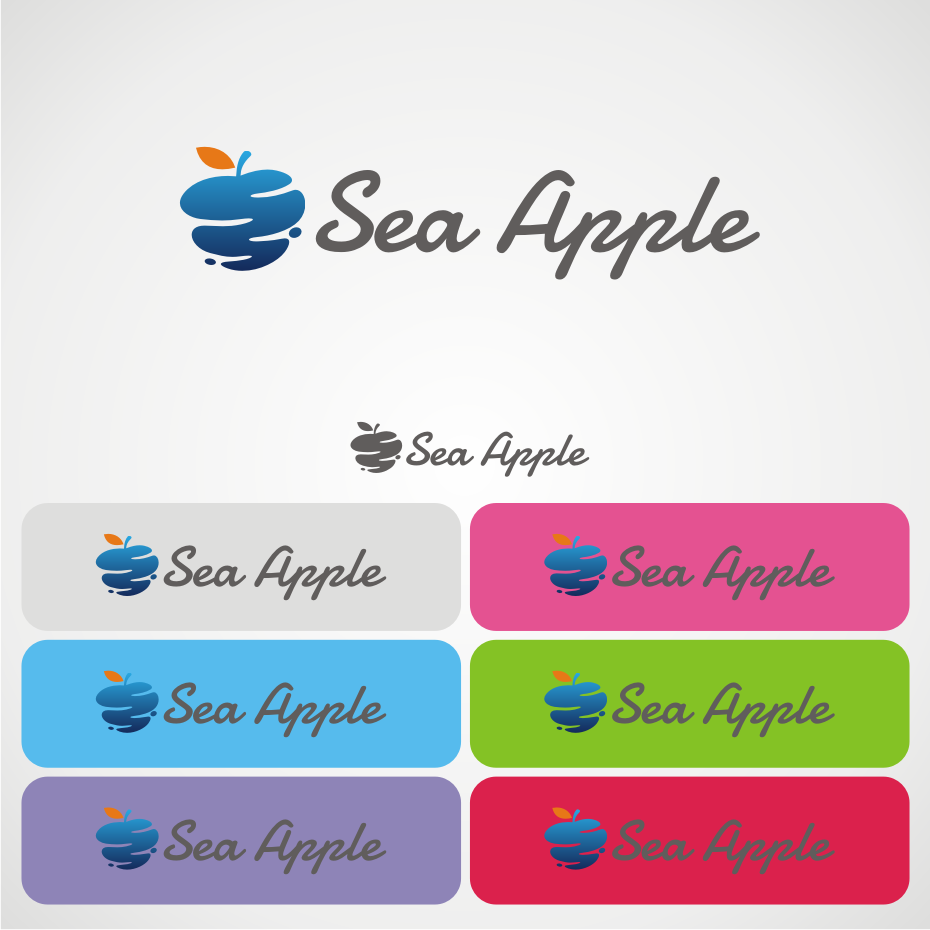 Logo Design by awis - Entry No. 44 in the Logo Design Contest Sea Apple logo.