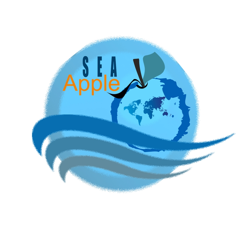 Logo Design by Chris Frederickson - Entry No. 48 in the Logo Design Contest Sea Apple logo.