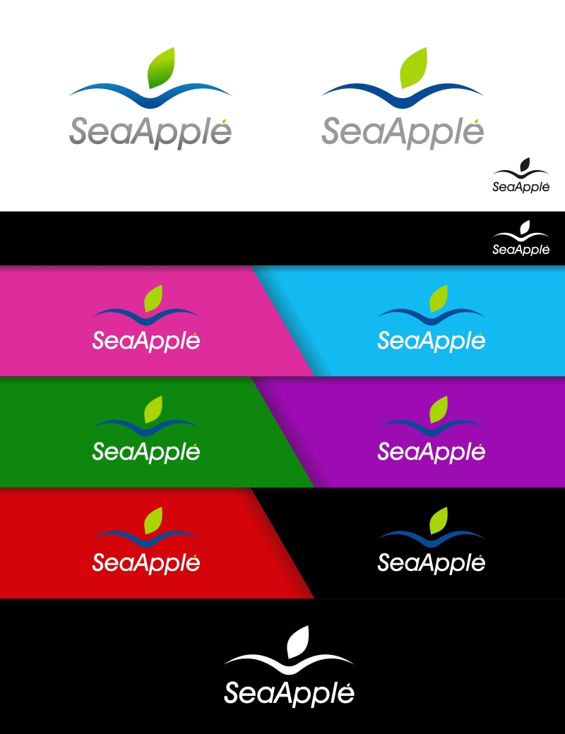 Logo Design by Private User - Entry No. 78 in the Logo Design Contest Sea Apple logo.