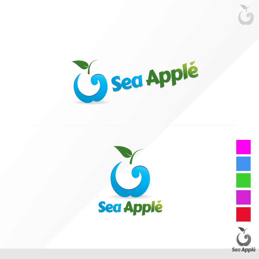 Logo Design by rockpinoy - Entry No. 80 in the Logo Design Contest Sea Apple logo.