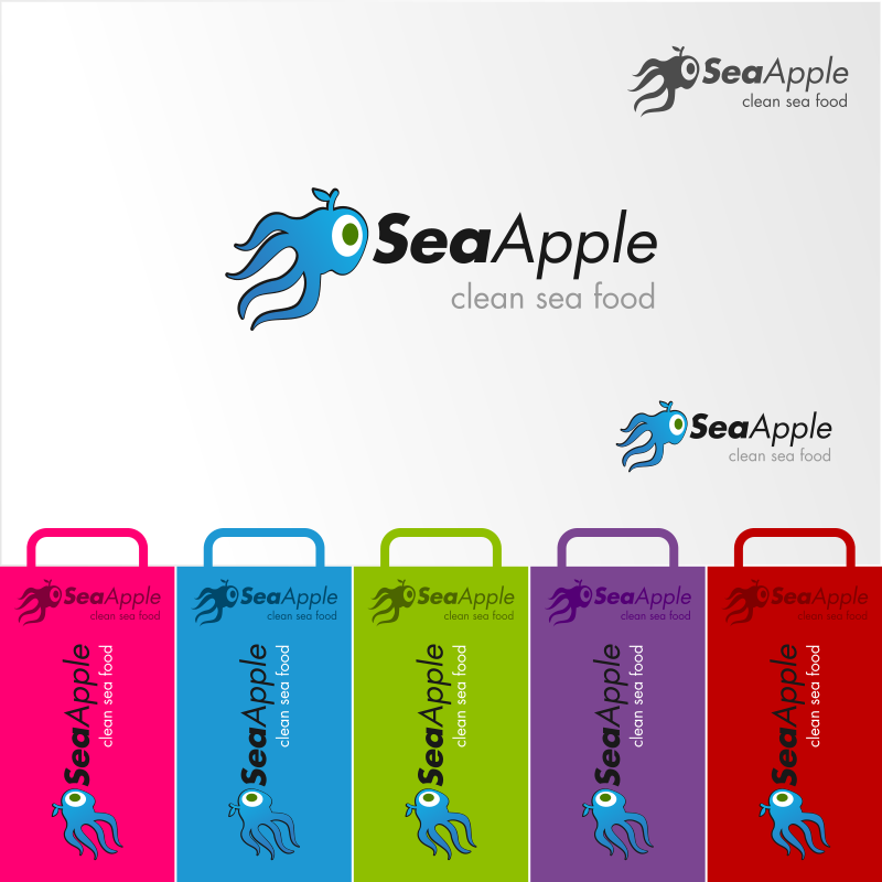 Logo Design by EmLiam - Entry No. 92 in the Logo Design Contest Sea Apple logo.