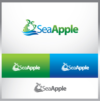 Logo Design by MOX - Entry No. 102 in the Logo Design Contest Sea Apple logo.