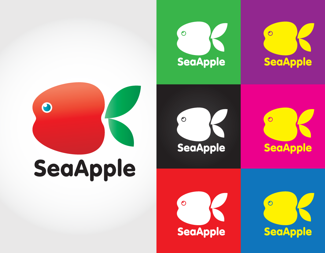 Logo Design by ikiyubara - Entry No. 115 in the Logo Design Contest Sea Apple logo.