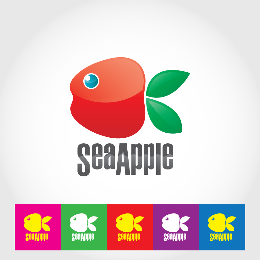 Logo Design by ikiyubara - Entry No. 133 in the Logo Design Contest Sea Apple logo.