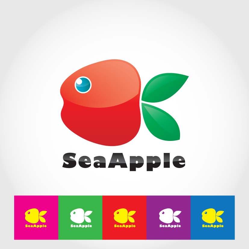 Logo Design by ikiyubara - Entry No. 134 in the Logo Design Contest Sea Apple logo.