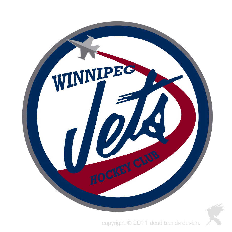 Logo Design by deadtrends - Entry No. 295 in the Logo Design Contest Winnipeg Jets Logo Design Contest.