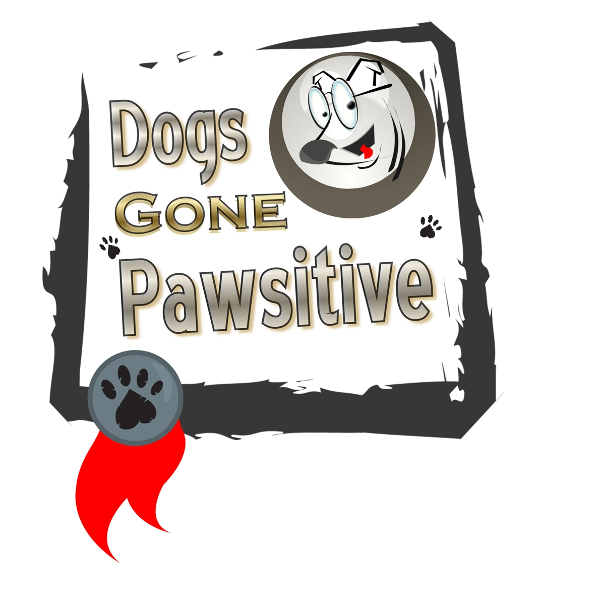 Logo Design by Chris Frederickson - Entry No. 16 in the Logo Design Contest Happy Playful Dog Logo.