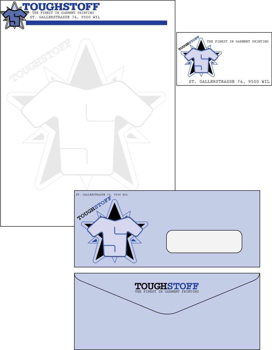 Business Card Design by LLP7 - Entry No. 4 in the Business Card Design Contest Toughstoff Stationery.