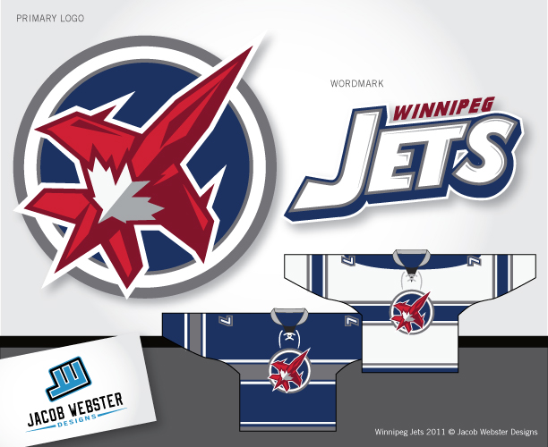 Logo Design by Jacob Webster - Entry No. 303 in the Logo Design Contest Winnipeg Jets Logo Design Contest.