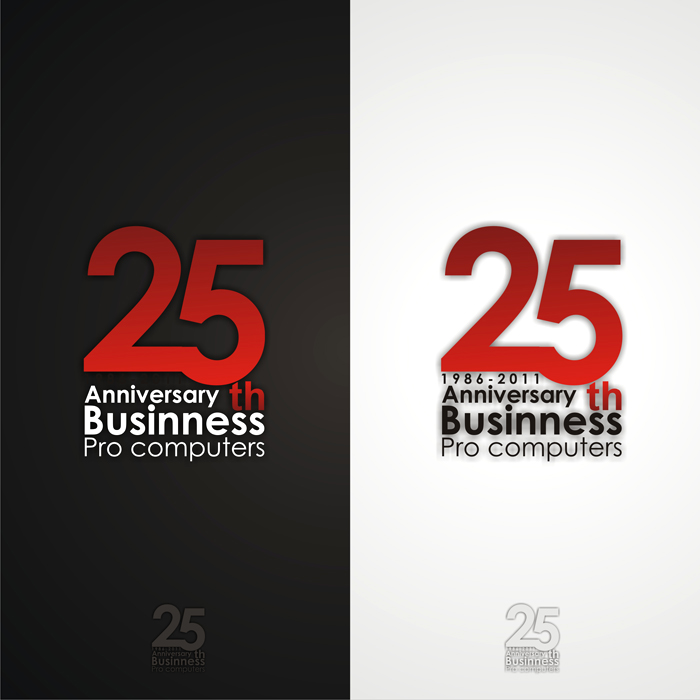 Logo Design by lestari17 - Entry No. 81 in the Logo Design Contest 25th Anniversary Logo Contest.