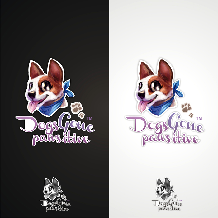 Logo Design by lestari17 - Entry No. 55 in the Logo Design Contest Happy Playful Dog Logo.