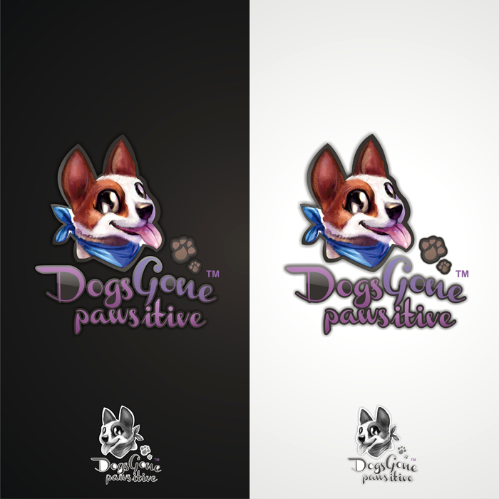 Logo Design by lestari17 - Entry No. 57 in the Logo Design Contest Happy Playful Dog Logo.