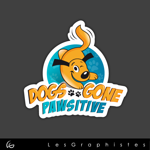 Logo Design by Les-Graphistes - Entry No. 63 in the Logo Design Contest Happy Playful Dog Logo.