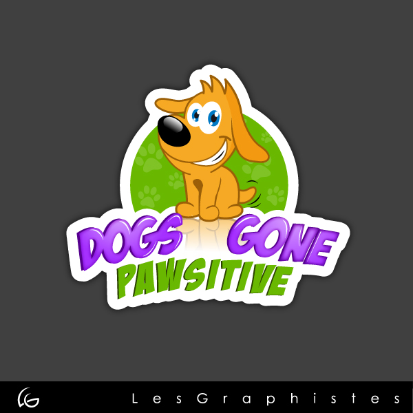 Logo Design by Les-Graphistes - Entry No. 72 in the Logo Design Contest Happy Playful Dog Logo.