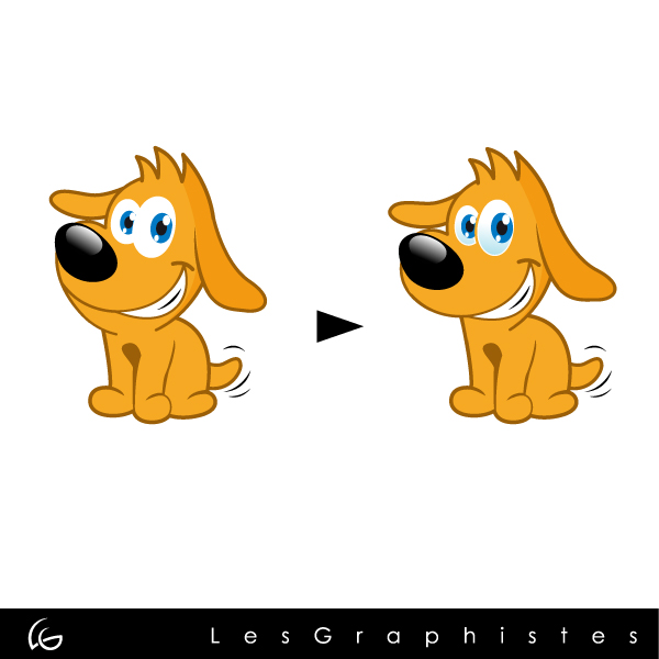 Logo Design by Les-Graphistes - Entry No. 78 in the Logo Design Contest Happy Playful Dog Logo.