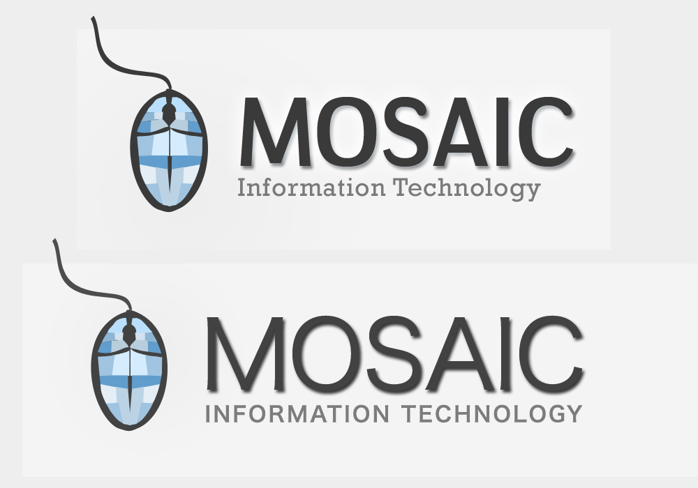 Logo Design by Private User - Entry No. 60 in the Logo Design Contest Mosaic Information Technology Logo Design.