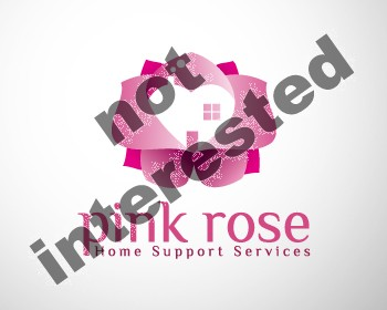 Logo Design by dapc79 - Entry No. 33 in the Logo Design Contest Pink Rose Home Support Services.