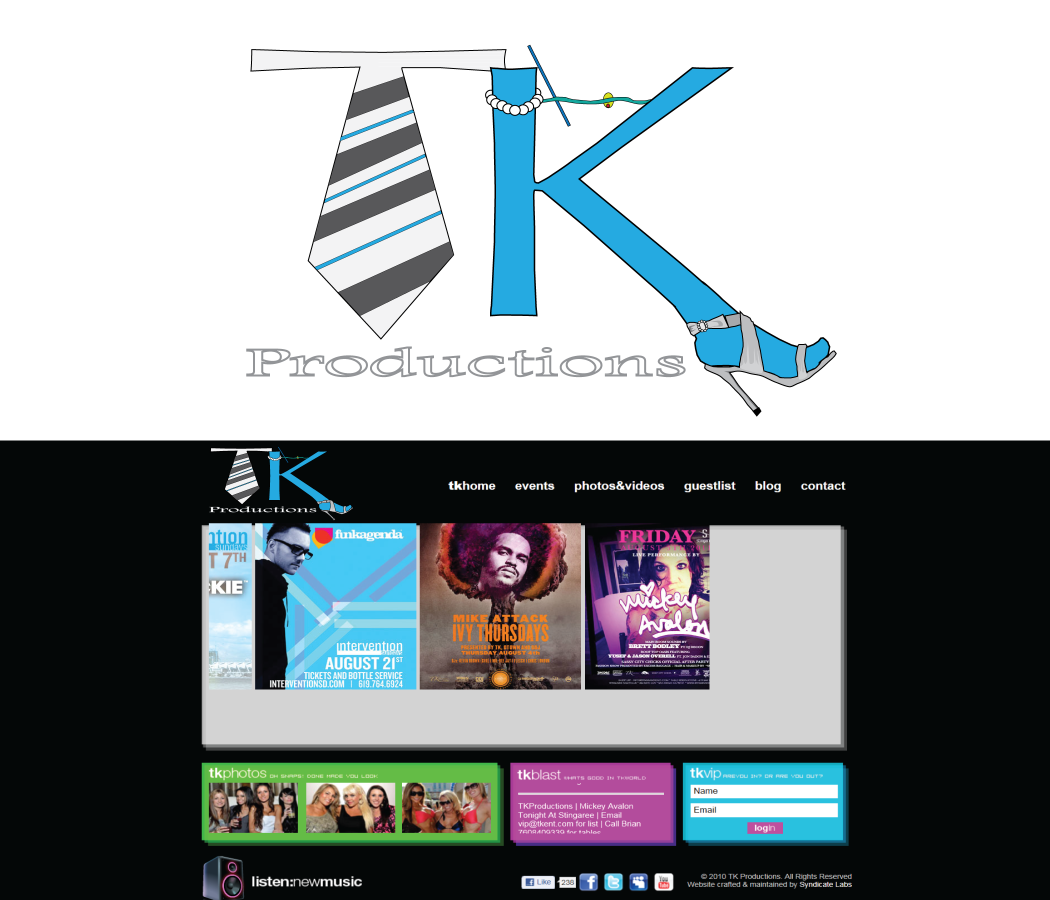 Logo Design by Sanjay - Entry No. 11 in the Logo Design Contest TKProductions Logo Re-Vamp.