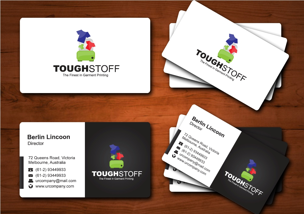 Business Card Design by ardinonino - Entry No. 9 in the Business Card Design Contest Toughstoff Stationery.