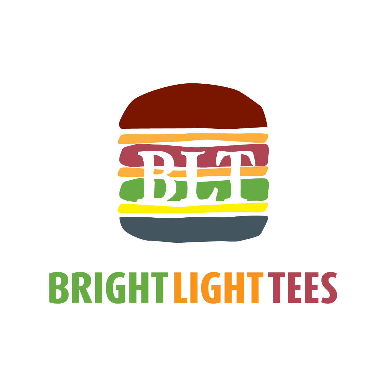Logo Design by josephope - Entry No. 8 in the Logo Design Contest BLT Sandwich Logo - Bread, with stacked words as filling.