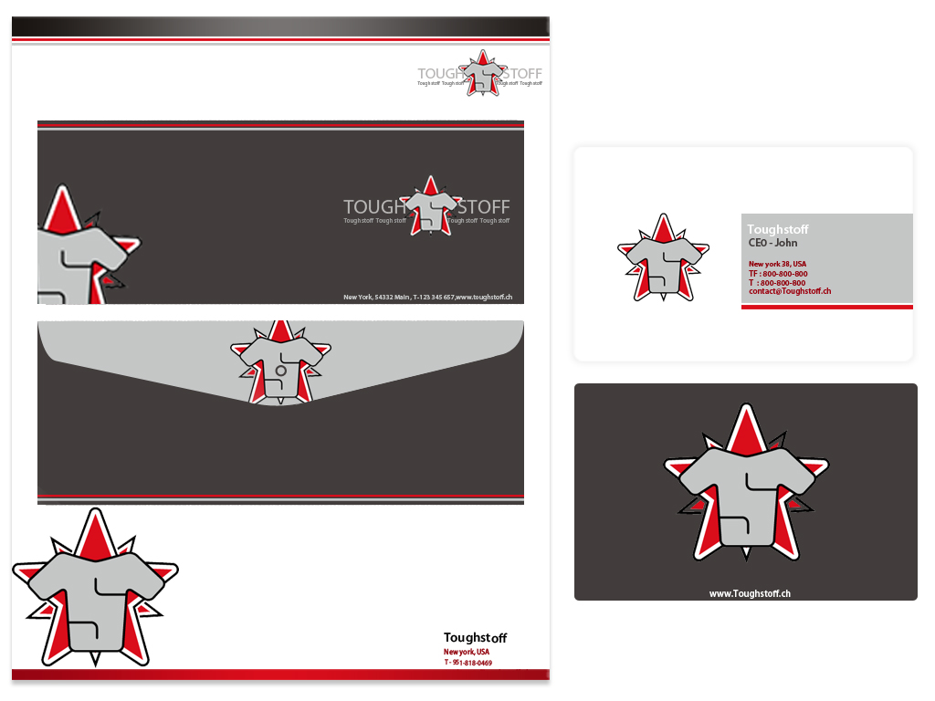 Business Card Design by Private User - Entry No. 12 in the Business Card Design Contest Toughstoff Stationery.