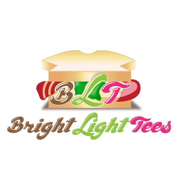 Logo Design by storm - Entry No. 11 in the Logo Design Contest BLT Sandwich Logo - Bread, with stacked words as filling.