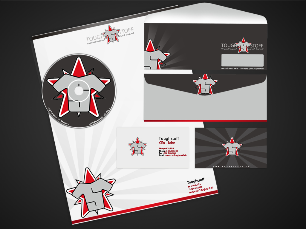 Business Card Design by Private User - Entry No. 13 in the Business Card Design Contest Toughstoff Stationery.