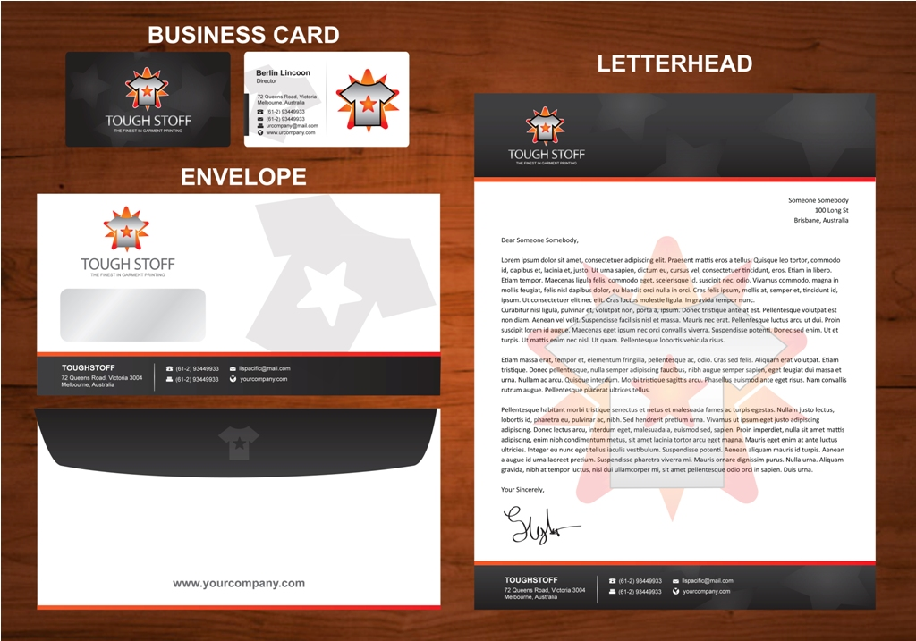 Business Card Design by ardinonino - Entry No. 15 in the Business Card Design Contest Toughstoff Stationery.