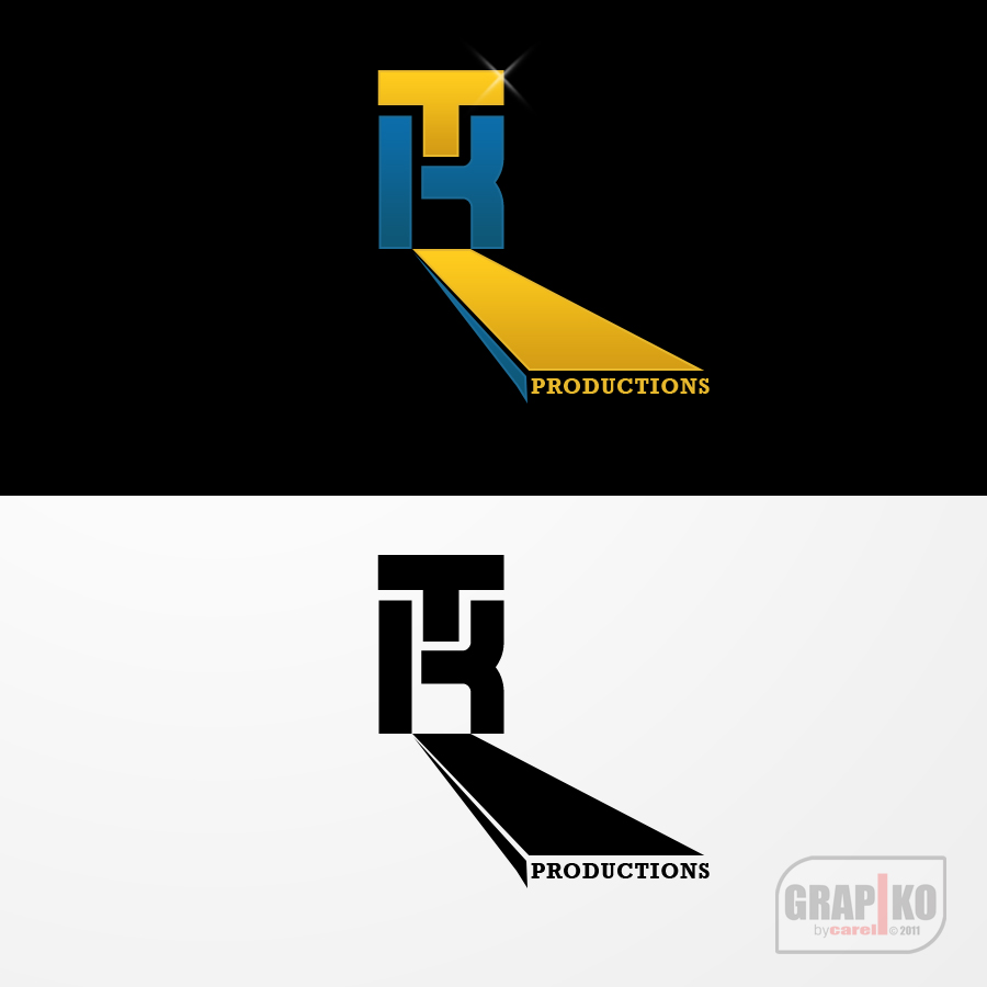 Logo Design by carell - Entry No. 64 in the Logo Design Contest TKProductions Logo Re-Vamp.