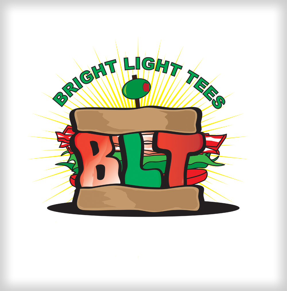 Logo Design by harleydontsurf - Entry No. 22 in the Logo Design Contest BLT Sandwich Logo - Bread, with stacked words as filling.