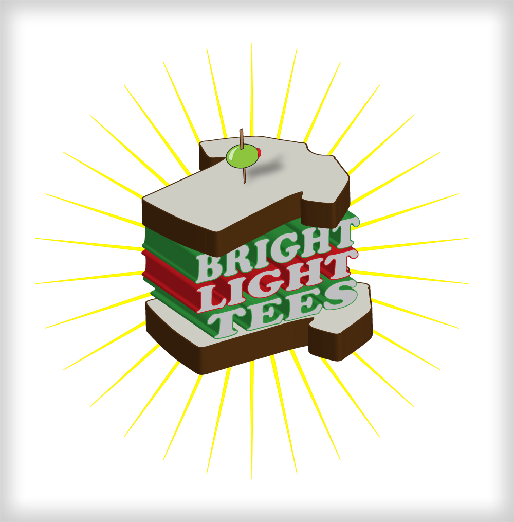 Logo Design by harleydontsurf - Entry No. 26 in the Logo Design Contest BLT Sandwich Logo - Bread, with stacked words as filling.